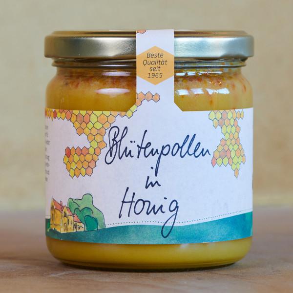 Honig mit Blütenpollen